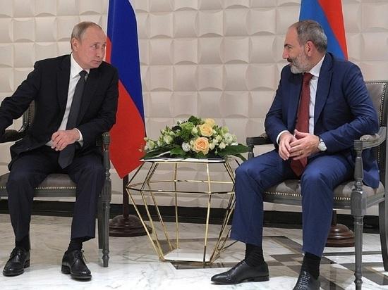 Путин призвал не считать Пашиняна предателем Армении