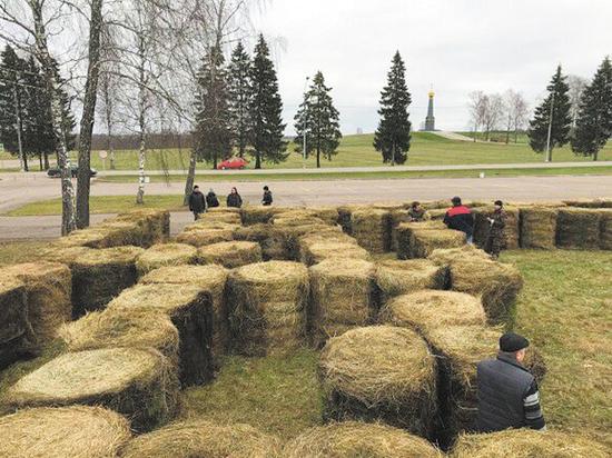 В Бородине появился лабиринт из сена