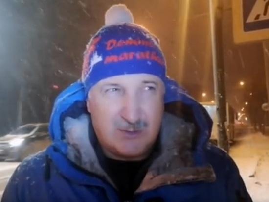Мэр Рыбинска лично протестировал уборку снега.