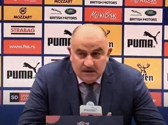 Черчесов прокомментировал поражение от Сербии со счётом 5:0