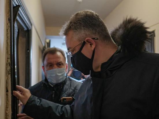 Губернатор Владимиров лично оценил масштабы последствий пожара в Ставрополе