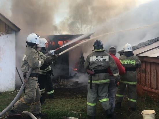 В Собинке из-за сжигания сухостоя в ветреную погоду произошел пожар