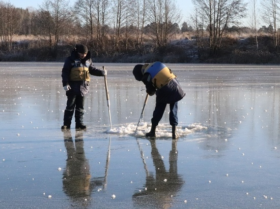 Толщина льда на Кокшаге в Йошкар-Оле не превышает 9 см