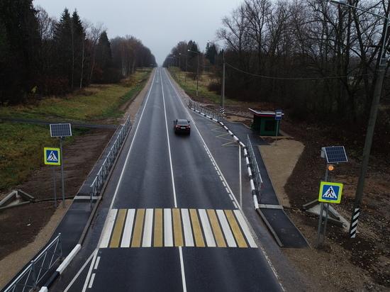 В Калужской области завершен ремонт участка трассы А-130
