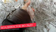 Хрустальная жесть: кадры ледяного дождя опечалили Владивосток и Москву