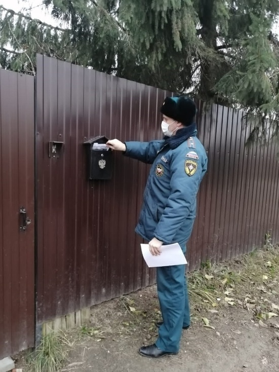 О правилах пожарной безопасности рассказали жителям псковской деревни