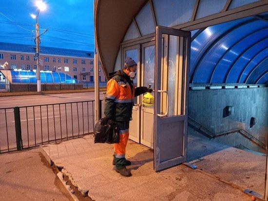 В Чебоксарах ежедневно дезинфицируют подземные пешеходные переходы