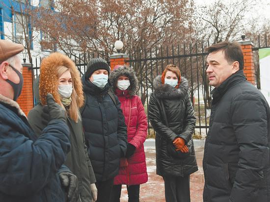 Губернатор Андрей Воробьев проверил ход реконструкции Щелковских очистных сооружений