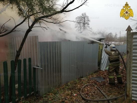 Человек пострадал на пожаре в Людинове