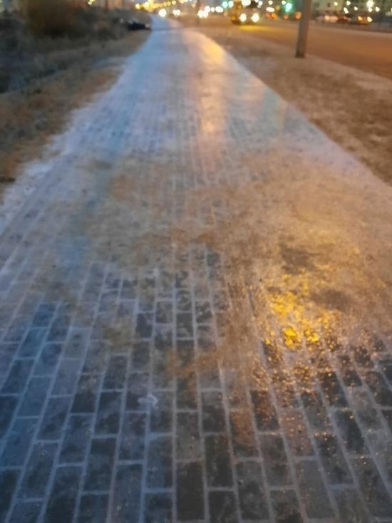 В Обнинске количество травмированных на льду возросло вдвое