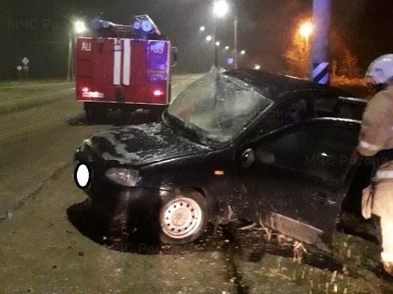 В Калужской области девочка серьезно травмирована в налетевшей на столб машине