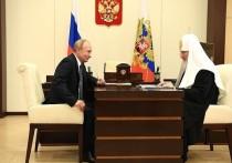Президент России Владимир Путин поздравил патриарха Московского и всея Руси Кирилла с днем рождения