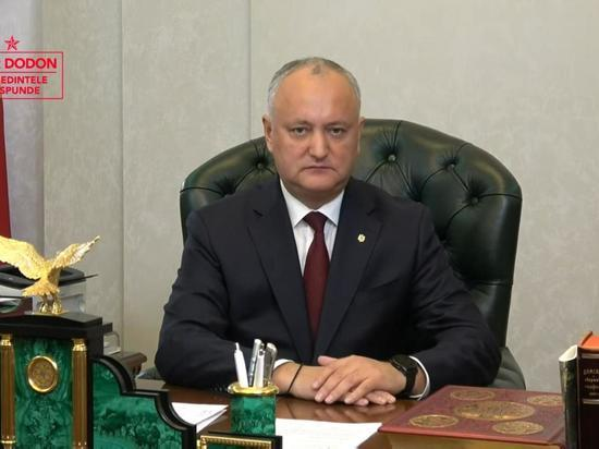Додон: Мы заблокируем любые попытки посягнуть на суверенитет Молдовы