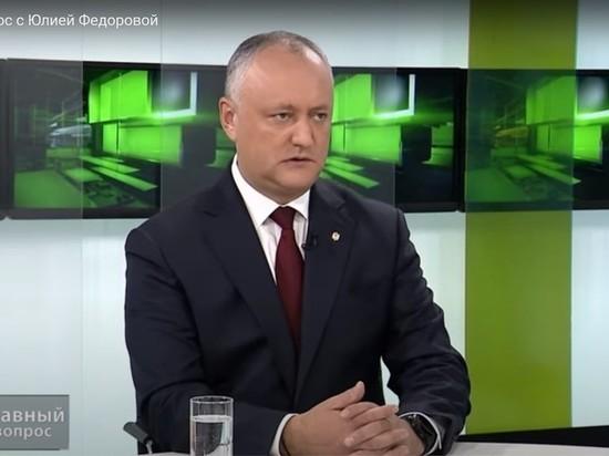 Додон назвал высказывание Санду по Приднестровью серьезной ошибкой