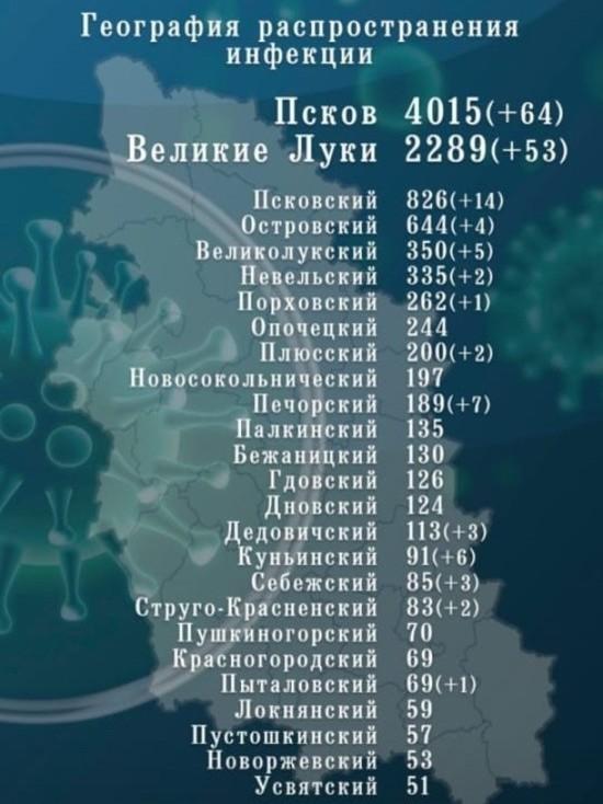 Псковская ковид-статистика: 167 новых случаев и еще один очаг