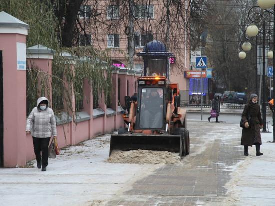 Калугу убирают от снега нон-стоп