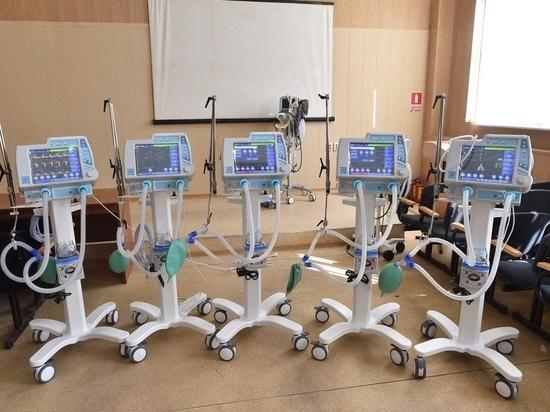 В Якутию поступили 64 аппарата искусственной вентиляции легких