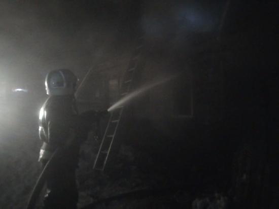 Человек пострадал на пожаре под Калугой