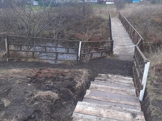 В Тверской области после жалобы местных жителей обезопасили спуск к мосту