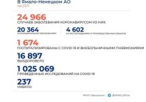 В ЯНАО выявили 194 новых случая COVID-19