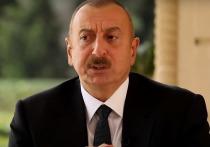 Появилось видео, как Алиев проехался на бронемашине по Нагорному Карабаху