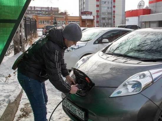 На Сахалине открыли новую зарядную станцию для электрокаров