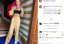 Российская телеведущая и певица Ольга Бузова продемонстрировала в своем Instagram фото, на котором она демонстрирует свой торс