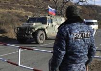 Военнослужащие ВС РФ из состава миротворческого контингента в спорном Нагорно-Карабахском регионе, приступили к выполнению поставленных задач