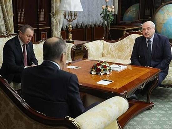 Глава МИД России Сергей Лавров встретился в Минске с президентом Белоруссии Александром Лукашенко