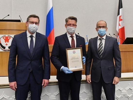 Александр Бречалов вручил благодарность Ижевску за реализацию нацпроекта БКАД