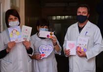Дети ДНР нарисовали открытки для врачей ковидных госпиталей