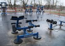 На Набережной реки Великой в Пскове появилась новая спортплощадка