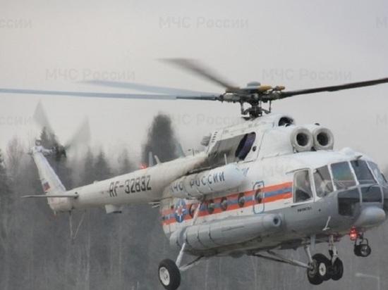 На вертолете в Тверь доставили тяжелобольного человека