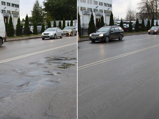 Улицу Ижорского батальона в Пскове отремонтировали за полтора месяца