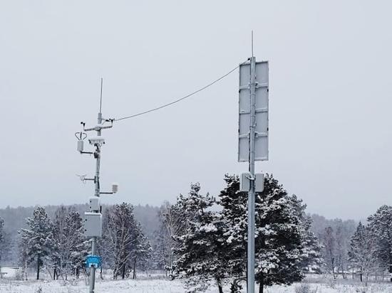 На федеральных трассах Бурятии ввели в эксплуатацию новые метеопосты