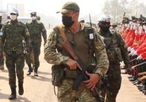 В Сети появились многочисленные фотографии бойцов неармейских формирований славянской внешности, сделанные в Центрально-Африканской республике на военном параде в столице страны Банги