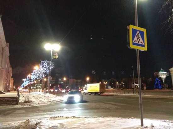 В центре Йошкар-Олы появились инновационные светильники