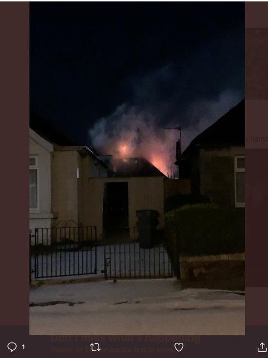 Декабрьская гроза подожгла дом в Шотландии