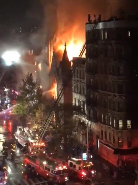 В Нью-Йорке сгорела церковь XIX века