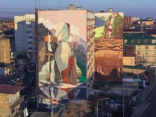 Рязанский стрит-арт художник создал граффити в Дербенте