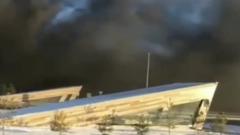 Вспыхнул казанский наукоград Иннополис: стена из черного дыма