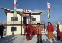 В одном из сел Тувы из заброшенного поста ДПС сделали буддийский объект