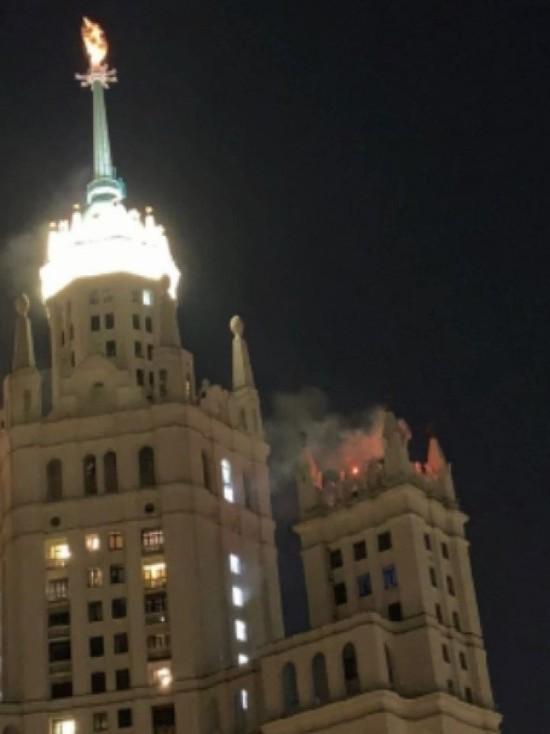 В Москве горит высотка на Котельнической набережной