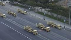 Алиев и Эрдоган отпраздновали победу в Карабахе: парад танков и ракет