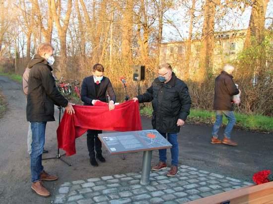 Германия: В Бремене открылся мемориальный знак, посвящённый памяти советских военнопленных