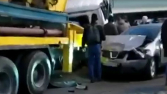 Во Владивостоке большегруз протаранил 16 машин
