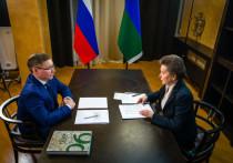 Наталья Комарова встретилась с Владимиром Якушевым
