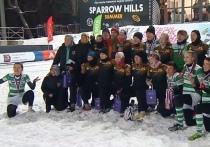 Женская команда «Енисей-СТМ» взяла золото на Открытом кубке города Москвы по регби на снегу