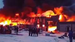 Устрашающий пожар на складе в Одинцово попал на видео