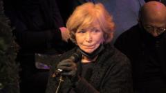 Вдова Гафта Ольга Остроумова не сдержала слез во время панихиды